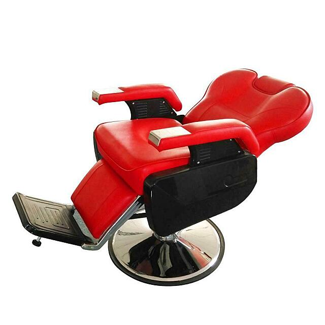 hydraulic red salon chair